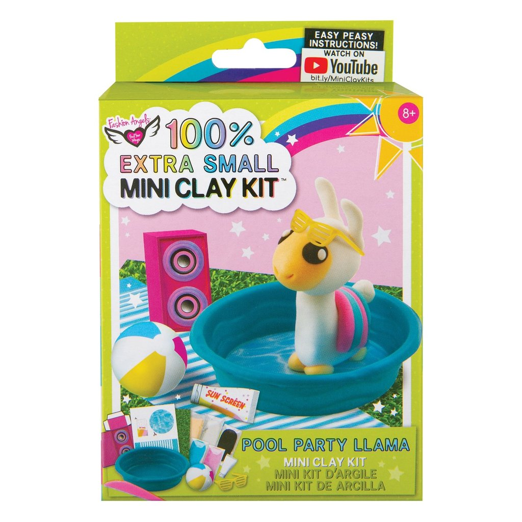 FASHION ANGELS 12465 EXTRA SMALLMINI CLAY KIT- POOL PARTY LLAMA