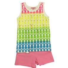 HAVENGIRL PEEPS TANK AND MILLY SHORT