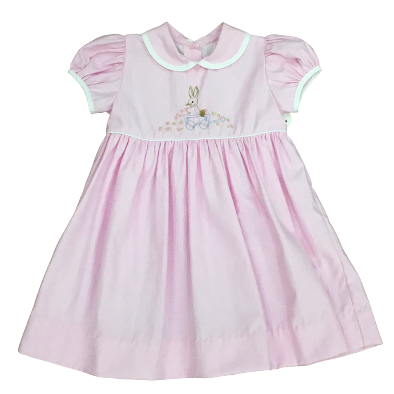 LULLABY SET PINK DOT BUNNY EMBROIDERY DRESS