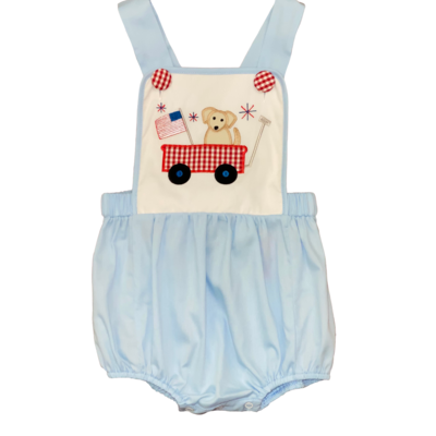 BANANA SPLIT PUPPY WAGON APPL SUNSUIT