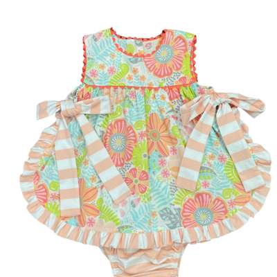 BANANA SPLIT PEACHY KEEN TIE BLOOMER SET