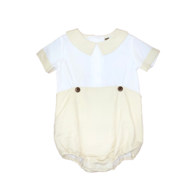 BANANA SPLIT KHAKI LINEN BOYS BUBBLE