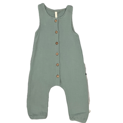 QUINCY MAE WOVEN SNAP JUMPSUIT