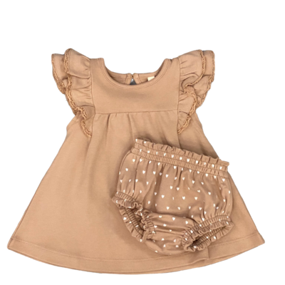 QUINCY MAE FLUTTER DRESS AND BLOOMER