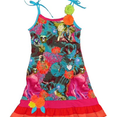 ZAZA COUTURE EXOTIC FLORAL DRESS