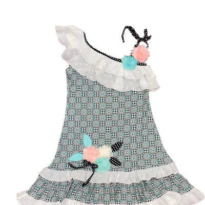 ZAZA COUTURE MINT LEMONADE ONE SHOULDER DRESS