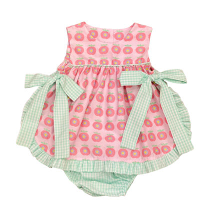 SAGE & LILLY AN APPLE A DAY SIDE BOW SET