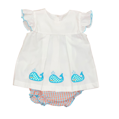 HONESTY WHALE APPL BOW BACK SET