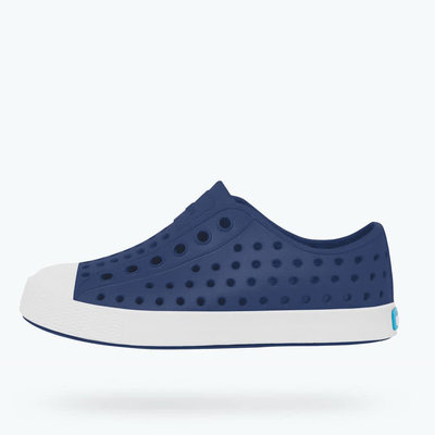 NATIVE JEFFERSON JUNIOR- REGATTA BLUE/SHELL WHITE