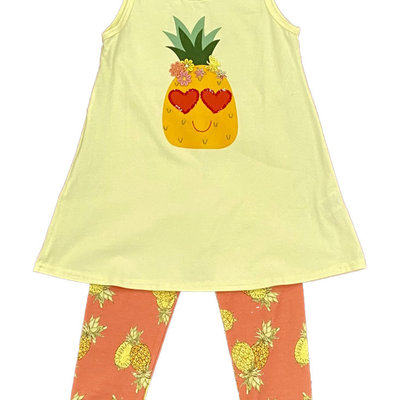 HAVENGIRL PINEAPPLE JUICE TUNIC AND CAPRI LEGGING