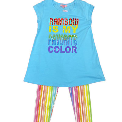 HAVENGIRL RAINBOW IS MY FAVE TUNIC AND CAPRI