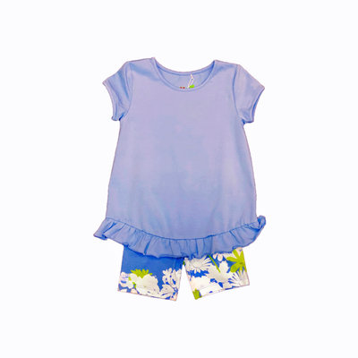 THREE FRIENDS APPAREL PERIWINKLE SUMMER TOP AND BUDDY BIKERS