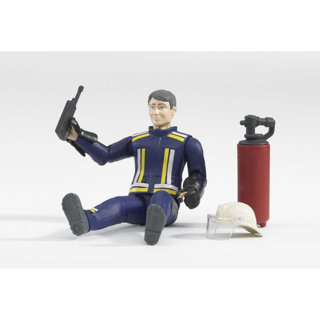 BRUDER FIREMAN WITH ACCESSORIES