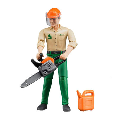 BRUDER LOGGING MAN W/ACCESSORIES