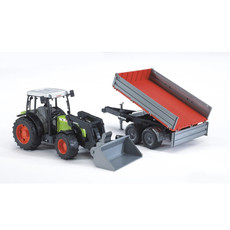 BRUDER CLAAS NECTIS 267F TRACTOR W FRONT LOADER AND TIPPING TRAILER