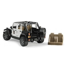 BRUDER JEEP RUBICON POLICE CAR WITH POLICEMAN