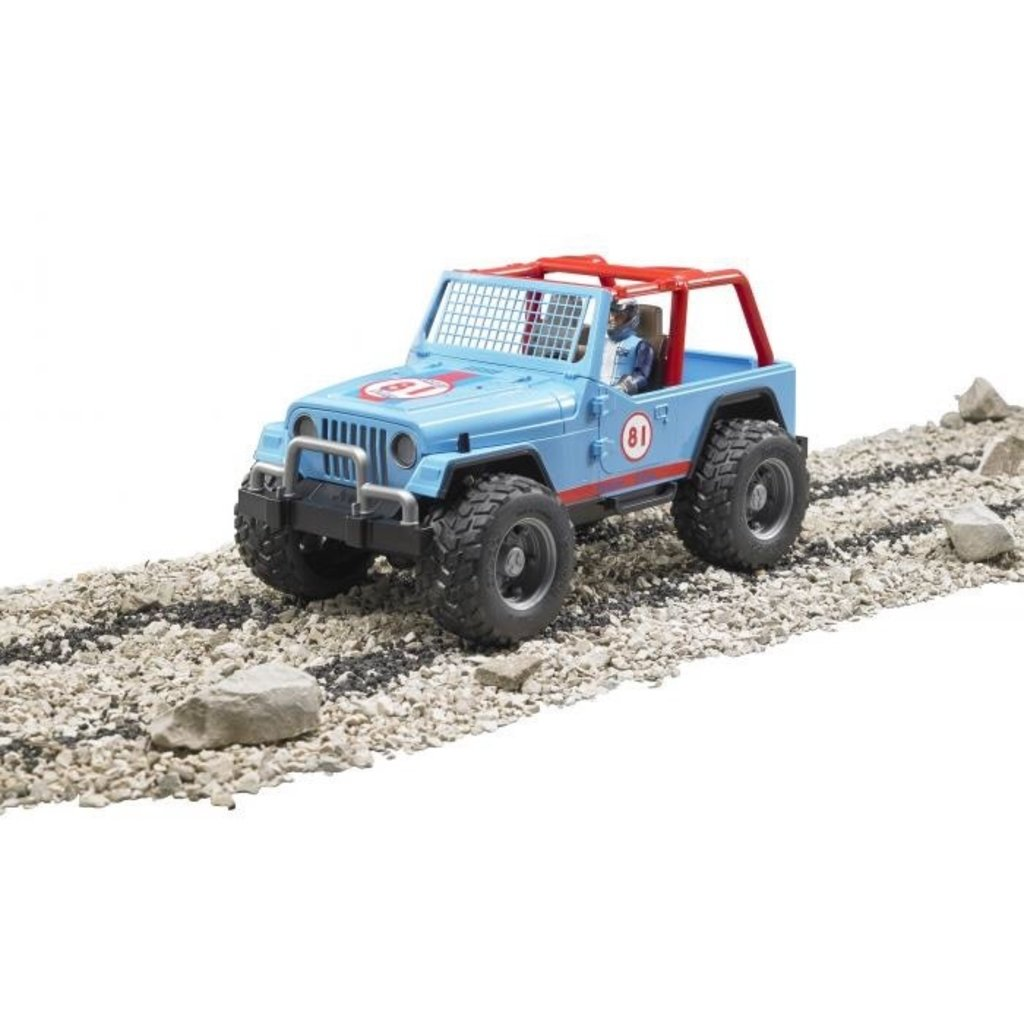BRUDER JEEP CROSS COUNTRY RACER WITH BLUE DRIVER