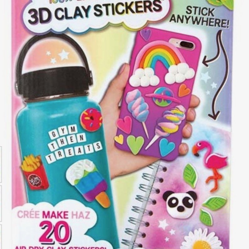 FASHION ANGELS 12529 EXTRA SMALL 3D MINI CLAY STICKER KIT