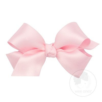 WEE ONES Mini French Satin Basic Bow with Knot