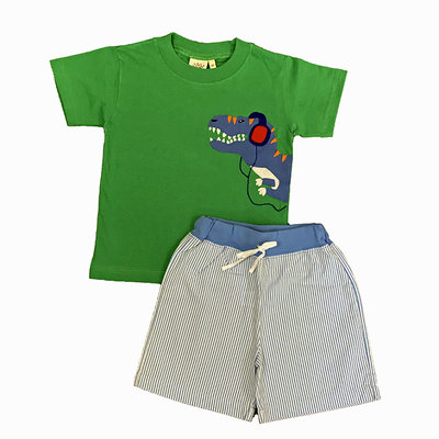 ACVISA SS T-REX TOP W/STRIPE SHORTS