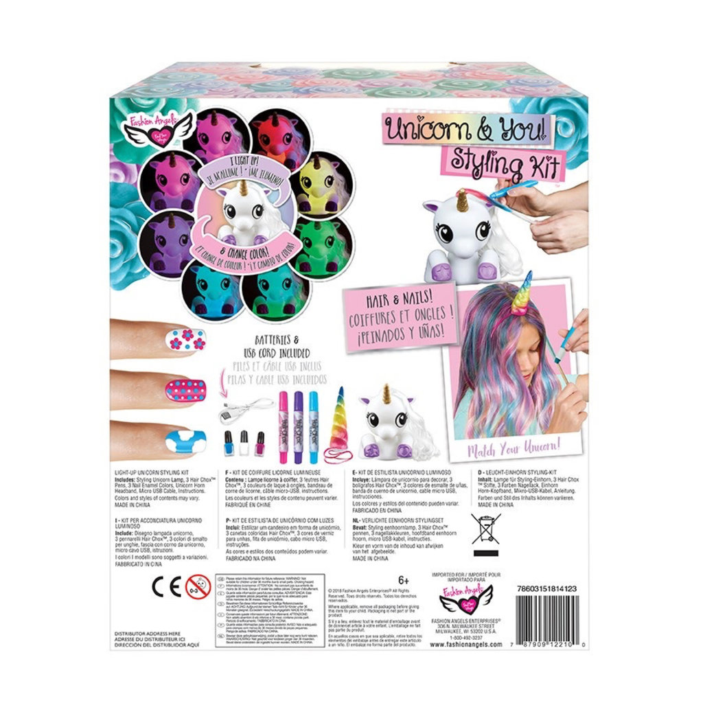 FASHION ANGELS 12210- UNICORN AND YOU STYLING KIT
