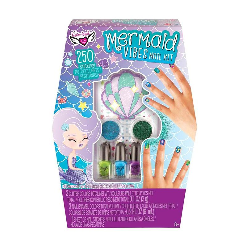 FASHION ANGELS 12240- MERMAID VIBES NAIL ART DESIGN SET