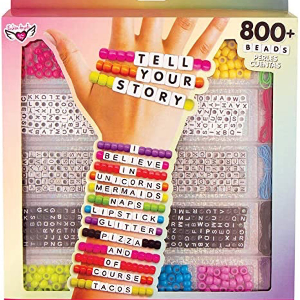 FASHION ANGELS 12355 TELL YOUR STORY ALPHABET BEAD CASE- LARGE