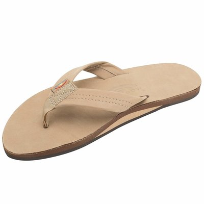 RAINBOW SANDALS MENS PREMIER LEATHER SINGLE LAYER