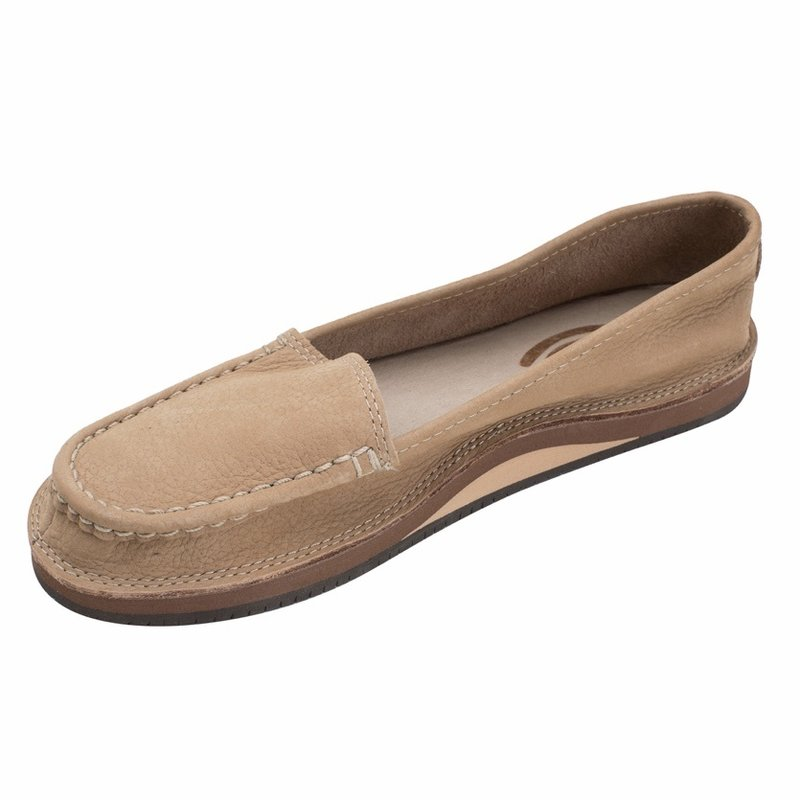 RAINBOW SANDALS LADIES MILLED LEATHER SLIP ON