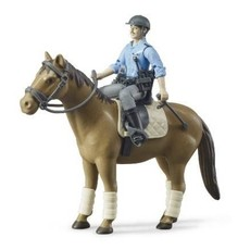 BRUDER BWORLD POLICE WITH HORSE