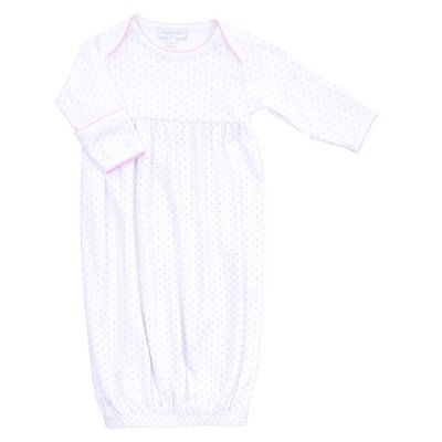 MAGNOLIA BABY MINI DOT ESSENTIALS GOWN