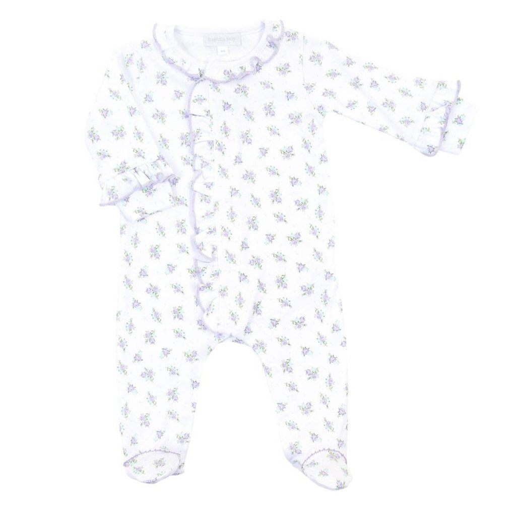 MAGNOLIA BABY SCATTERED RUFFLE FOOTIE- MELANIE'S GARDEN