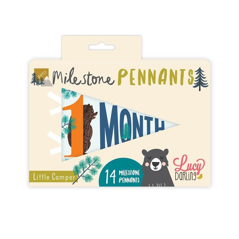 LUCY DARLING LITTLE CAMPER PETIT MILESTONE PENNANTS
