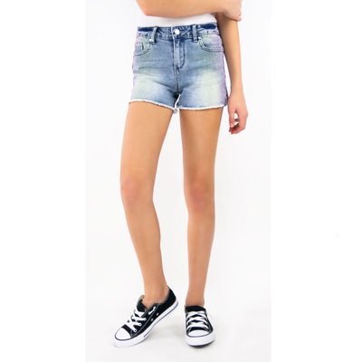 TRACTOR JEANS BRITTANY FRAYED OMBRE SHORTS