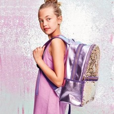 ISCREAM IRIDESCENT REVERSIBLE SEQUIN HOLOGRAPHIC BACKPACK