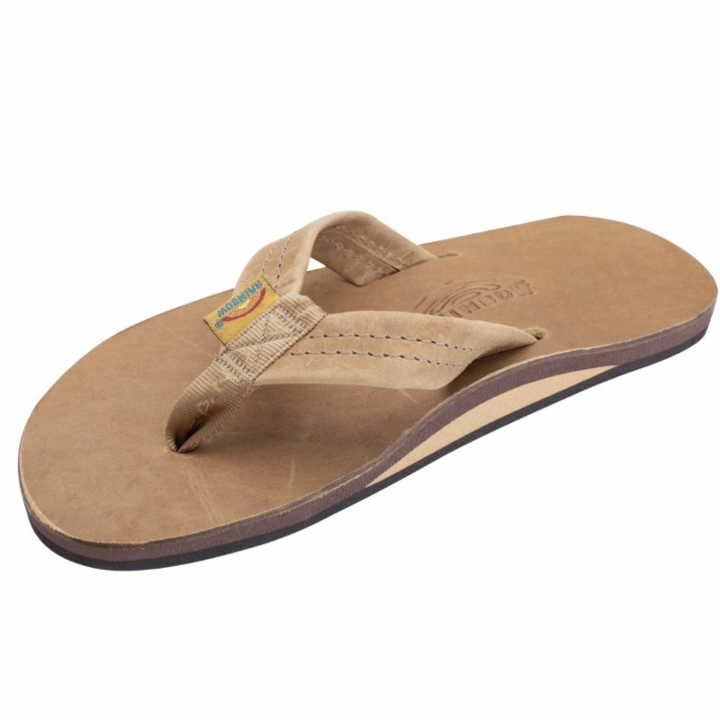 RAINBOW SANDALS MENS LUXURY LEATHER