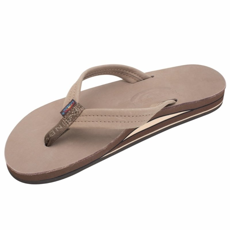 RAINBOW SANDALS WOMENS PREMIER LEATHER DOUBLE LAYER 3/4 NARROW STRAP