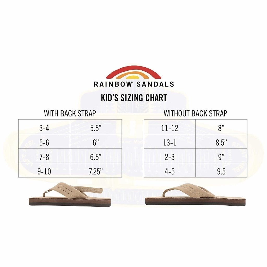 RAINBOW SANDALS KIDS SINGLE LAYER LEATHER NARROW