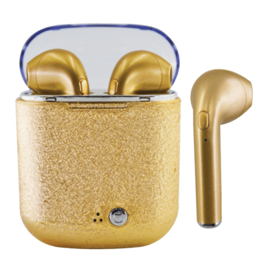 ISCREAM GOLD GLITTER EAR BUDS
