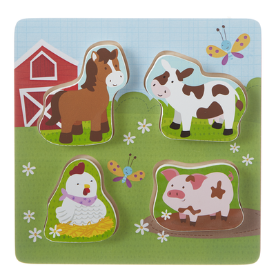 "Ganz 8.5"" HAPPY HILL WOODEN PUZZLE"