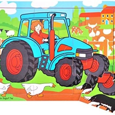 BIG JIGS 9PC TRAY PUZZLE- TRACTOR