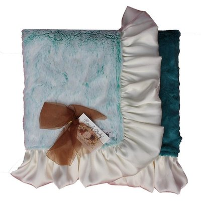 RAZZLE BABY DOUBLE PLUSH BLANKET- RUFFLE EDGE