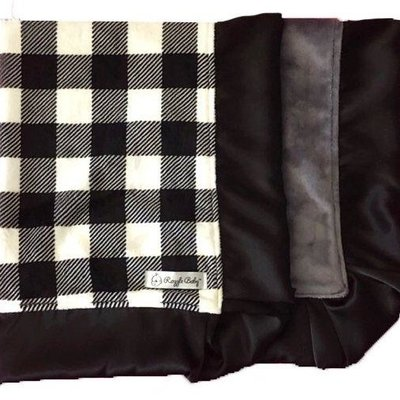 RAZZLE BABY DOUBLE PLUSH BLANKET- STRAIGHT EDGE