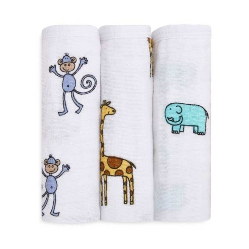 ADEN + ANAIS 3PK WASHCLOTH SET - JUNGLE JAM