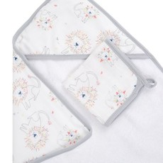 ADEN + ANAIS CLASSIC MUSLIN BACKED HOODED TOWEL SET LEADER OF THE PACK