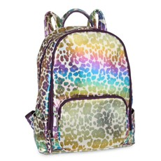 BARI LYNN LEOPARD PRINT BACKPACK