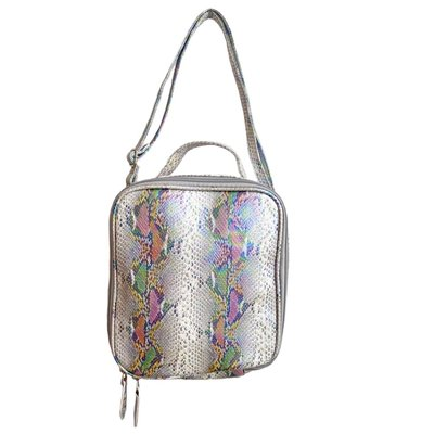 BARI LYNN FAUX SNAKESKIN LUNCH BOX