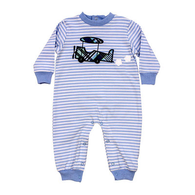 BAILEY BOYS KNIT ROMPER- AIRPLANE