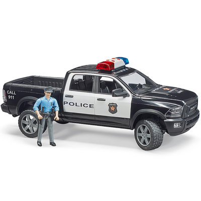 BRUDER POLICE RAM 2500 WITH POLICEMAN AND L/S MODULE