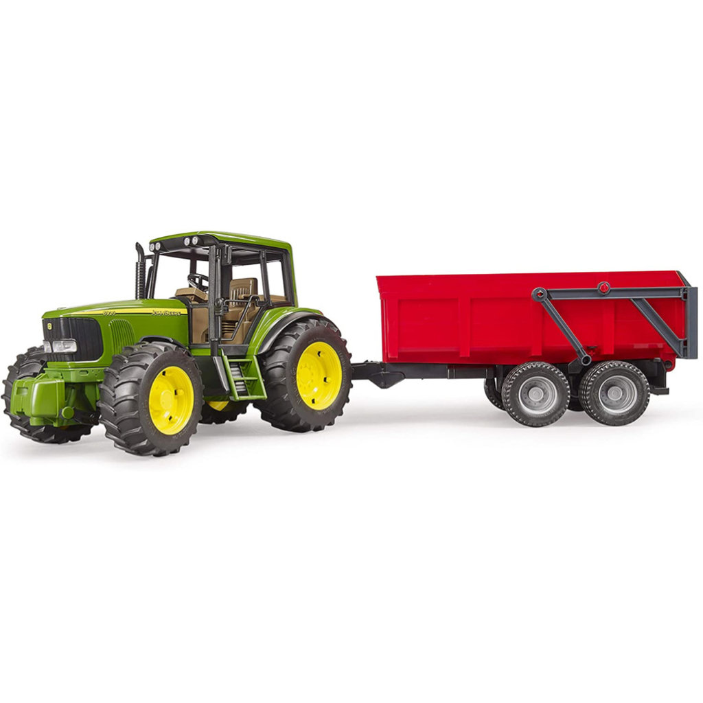 BRUDER JOHN DEERE 6920 WITH TIPPING TRAILER